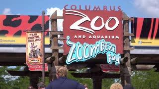 Sign for Columbus Zoo and Aquarium Entrance 4k