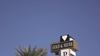 Sign on exterior of Gold and Silver Pawn shop in Las Vegas 4k