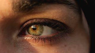 Single eyeball close up from female