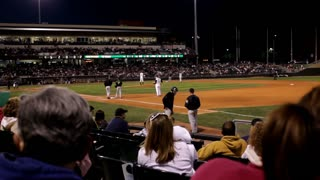 Sitting behind First base at Dayton Dragons Game