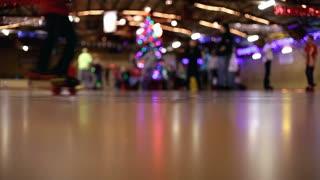 Skaters at Roller Rink