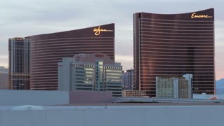 Skyline of Wynn and Encore in Vegas