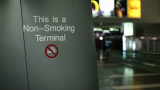 Smoke Free Airport terminal sign