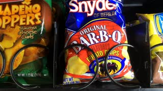 Snyder Bar B Q chips purchased from vending snack machine
