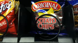 Snyder Original Potato Chips sold from vending machine
