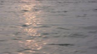 Soft focus sunset reflection on lake