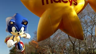 Sonic float in Macy's parade