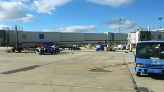 Southwest Airline planes on loading area of Philadelphia airport
