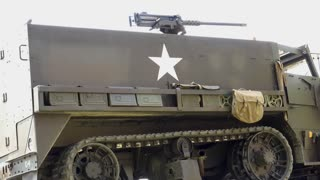Spartacus military vehicle with gun on top 4k