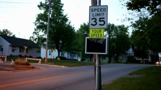 Speed Limit posted and enforced in town