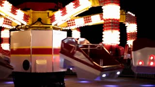 Spinning Scrambler ride at Carnival