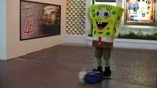 Spongebob in downtown Fremont Street