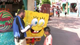 Spongebob at Universal Studios Stock Video Footage