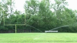 Sprinkler Watering Football Field