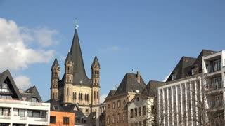 St Martin Church with blue sky 4k