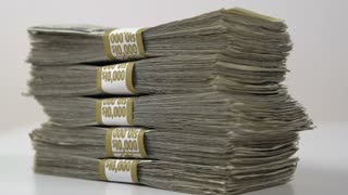 Stack of Fifty Thousand Dollars
