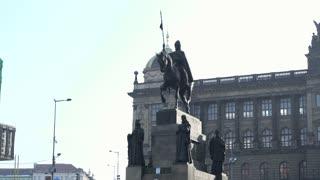 Statue in Wenceslas Square of Prague