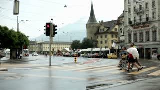Stop light in Luzern Switzerland
