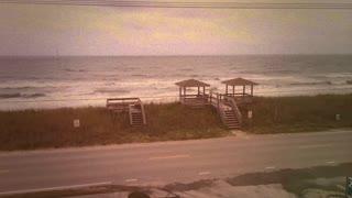 Street along ocean shore vintage 8mm