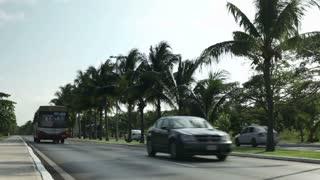 Street going through Cancun Mexico