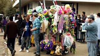 Street vendor at Mardi Gras parade 2012