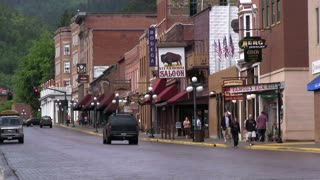 Streets of downtown Deadwood town