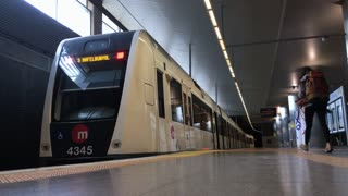 Subway train station at Valencia Airport
