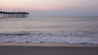 Sunrise at the beach pier