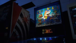 Super Mario Bros pinball arcade machine 4k