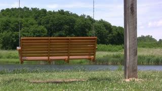 Swinging Bench overlooking Lake