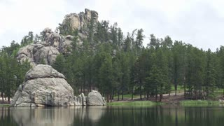 Sylvan lake at Custer state park
