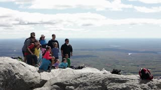 Taking a group picture on Mount Monadnock