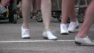 Tap Dancers feet on Street
