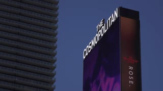 The Cosmopolitan Hotel and Casino Digital Sign exterior 4k