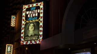 The Crucible playing at the Walter Kerr Theater in New York City 4k