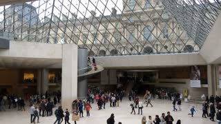 The Louvre museum lobby