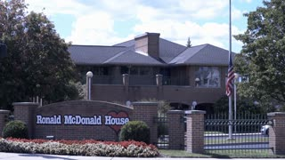 The Ronald McDonald House in downtown Dayton Ohio 4k