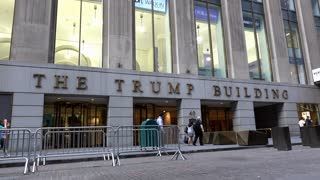 The Trump Building in downtown New York City 4k