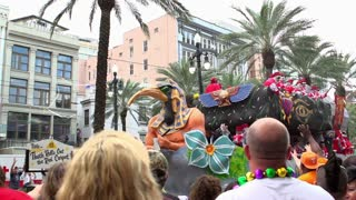 Thoth Rolls Out the Red Carpet float during Mardi Gras