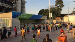 Ticket booth at Olympic Stadium 2016 Rio Summer Games 4k