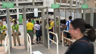 Ticket check station at Olympic stadium Rio 2016