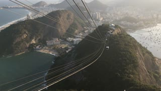Time Lapse of Cable car on Sugarloaf Mountain 4k