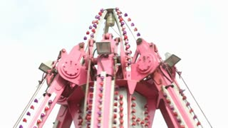 Top of carnival ride spinning around