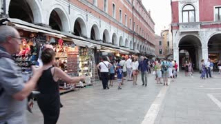 Tourists at market in Italy
