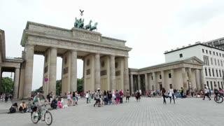 Tourists visiting Brandenburg Gate