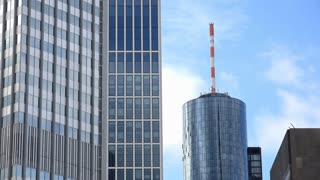 Tower and office building in downtown Frankfurt Germany 4k