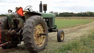 Tractor sitting in field