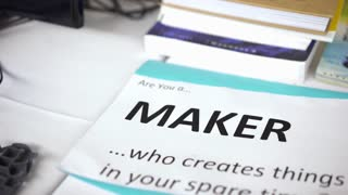 Trade show table for maker space advertising technology 4k