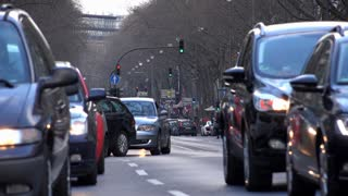 Traffic in downtown Cologne Germany 4k