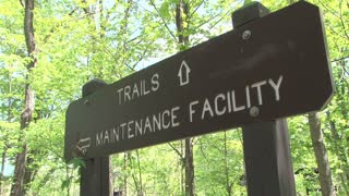 Trails and Maintenace Facility Sign